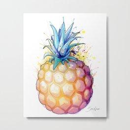 Fat Pineapple 2 Metal Print