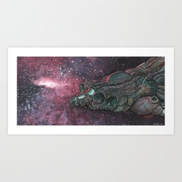 Ship of teflocarbon Art Print
