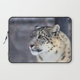 Concerned Mama Snow Leopard Laptop Sleeve