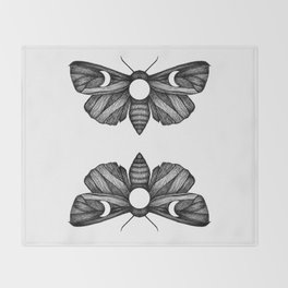 Moon Moth Throw Blanket