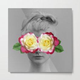 Seeing Roses Metal Print