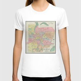 Vintage Map of Rochester NY (1901) T-shirt