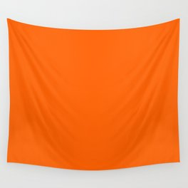 Solid Orange Wall Tapestry