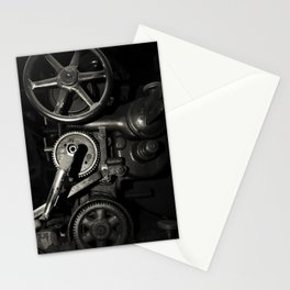 Machine Gears in Platinum Stationery Cards
