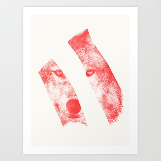 Red - by Eric Fan and Garima Dhawan  Art Print