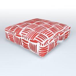 Red Parquet Outdoor Floor Cushion