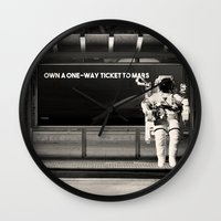 astronaut Wall Clocks featuring Astronaut by eARTh