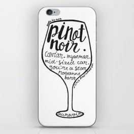 Pinot Noir iPhone Skin