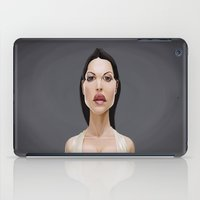 celebrity iPad Cases featuring Celebrity Sunday ~ Monica Bellucci by rob art | illustration