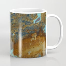 Blue Lagoons in Rusty World Coffee Mug