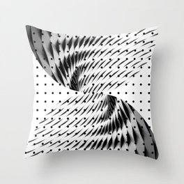 Abstract Steel Circles Throw Pillow