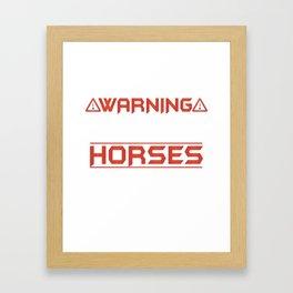 Perfect Gift Ideas For Horse Lover. Framed Art Print
