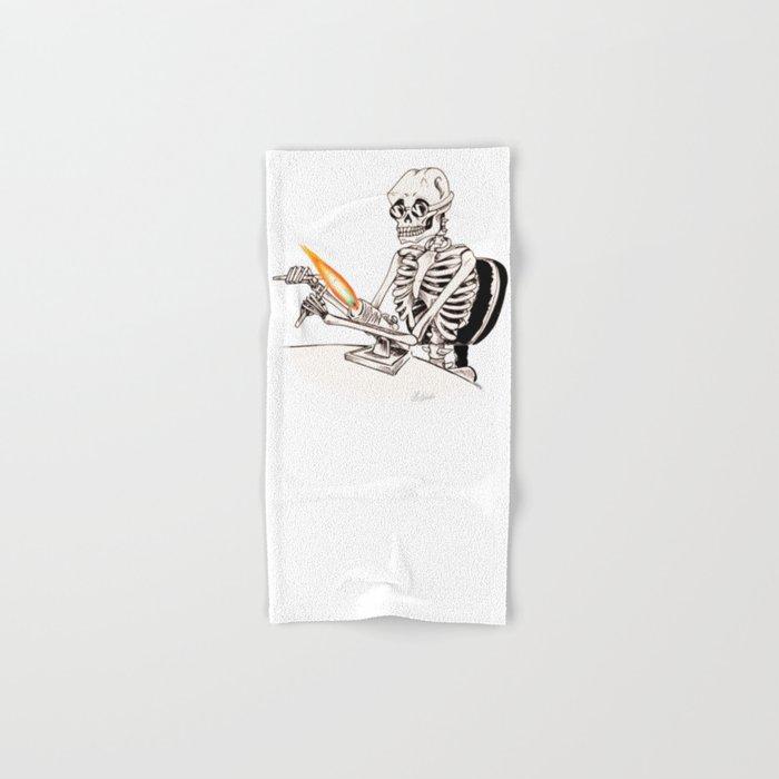 Skelly Flamerworker Hand & Bath Towel