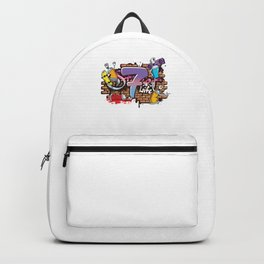 Hiphop Dancer Graffiti Artist Typography 7th Birthday Hip Hop Urban Wall Mural Street Art Backpack