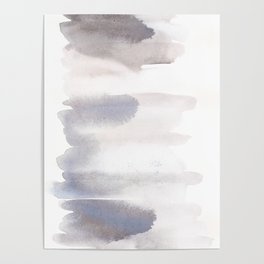 150129 Neutral Cool Abstract 16 Poster