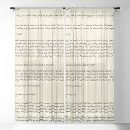 Pride and Prejudice Jane Austen antique white Sheer Curtain