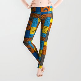 Pattern: abstract forest Leggings