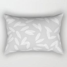 Falling Petals (grey) Rectangular Pillow
