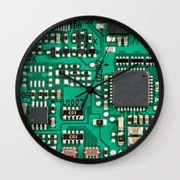 Electronic circuit board with processor Wall Clock