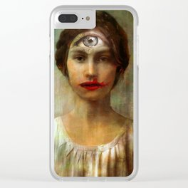 The girl with on eye Clear iPhone Case