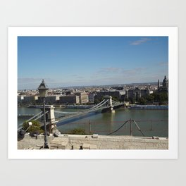 Not-so-blue Danube Art Print