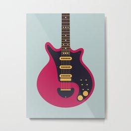 Glam Rock 70s Electric Guitar - Slate Metal Print