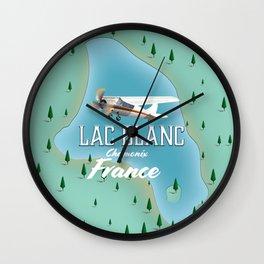 Lac Blanc,Chamonix, france Wall Clock