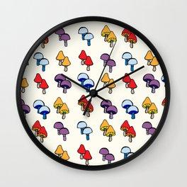 Funky Fungi Wall Clock