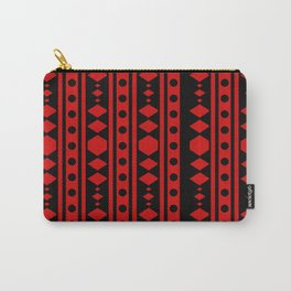 Tribal Red Pattern Carry-All Pouch