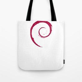 Debian Official Spiral Swirl Logo T-Shirt Tote Bag