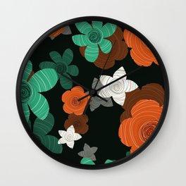 Decoration flowers Wall Clock