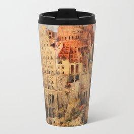 The Tower of Babel by Pieter Bruegel the Elder  Travel Mug