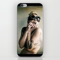 steam punk iPhone & iPod Skins featuring Steam Punk by Angela K. Rough
