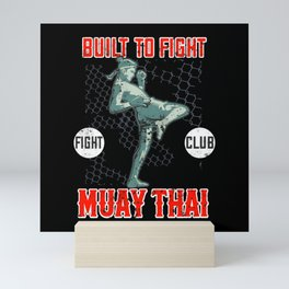 Muay Thai Fighter Martial Arts Boxing Mini Art Print