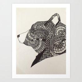 Mandala Bear Art Print