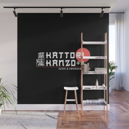 Hattori Hanzo, Sushi & Swordsmithing, est. 1945, Original Artwork for Wall Art, Prints, Posters, Tshirts, Men, Women, Kids Wall Mural