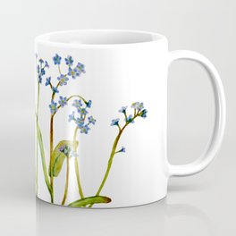 Forget-me-not flowers watercolor art Coffee Mug
