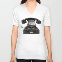 anonymous V-neck T-shirts featuring Anonymous by bravo la fourmi