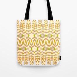 Ikat Tangerine Tote Bag