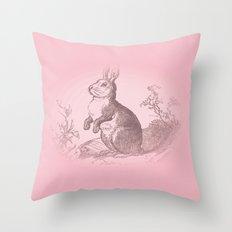 Bunny Rabbit {soft pink} Throw Pillow