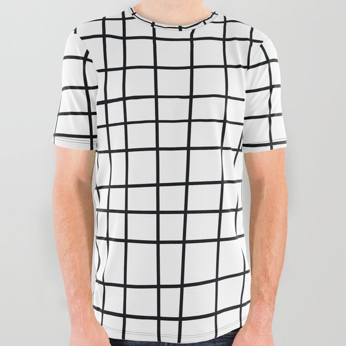 d4e5c1903 Spoiled Grid All Over Graphic Tee by bitart | Society6