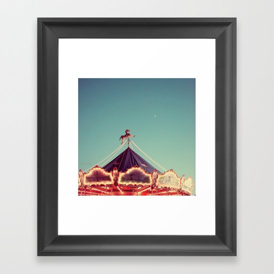 Crescent Moon Over Paris #2 Framed Art Print
