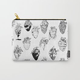 The Anatomy of a Heart Pattern Carry-All Pouch