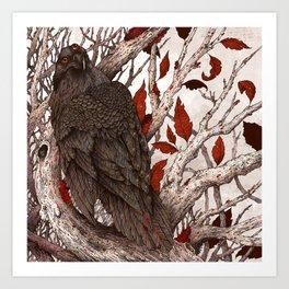 A Raven In Winter Art Print