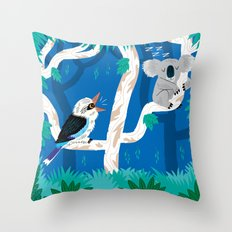 The Koala and the Kookaburra (version 2) Throw Pillow