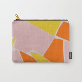 Abstract mosaic pink and yellow Carry-All Pouch