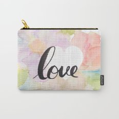 Watercolor floral love Carry-All Pouch