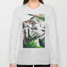 WHITE TIGER WATERCOLOR Long Sleeve T-shirt