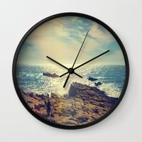 chile Wall Clocks featuring Quintero, Chile. by Viviana Gonzalez