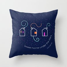 Sweet home under the stars Throw Pillow